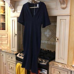 Navy AG Studio Midi Dress
